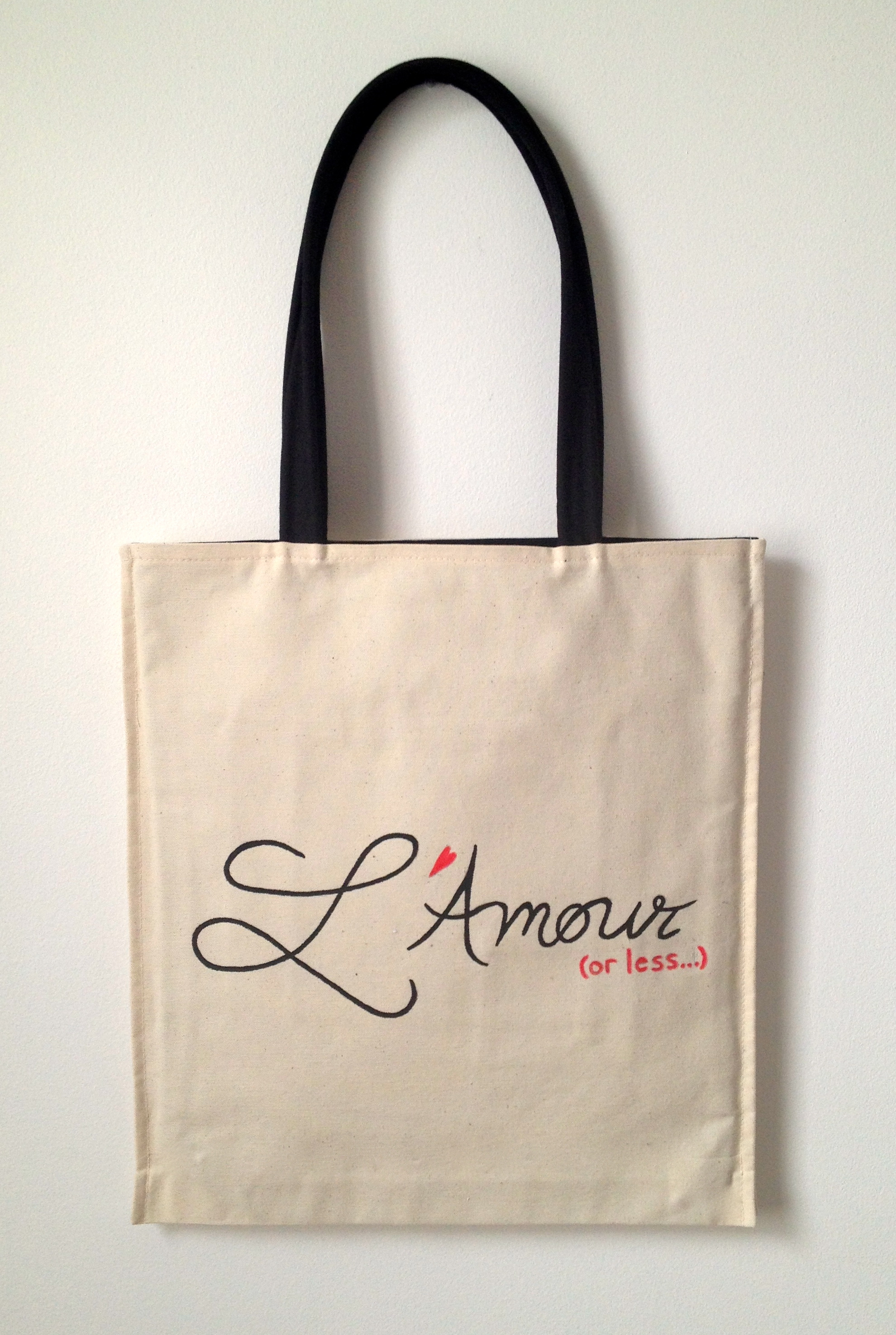 L'Amour (or less) tote by Kasia Dietz