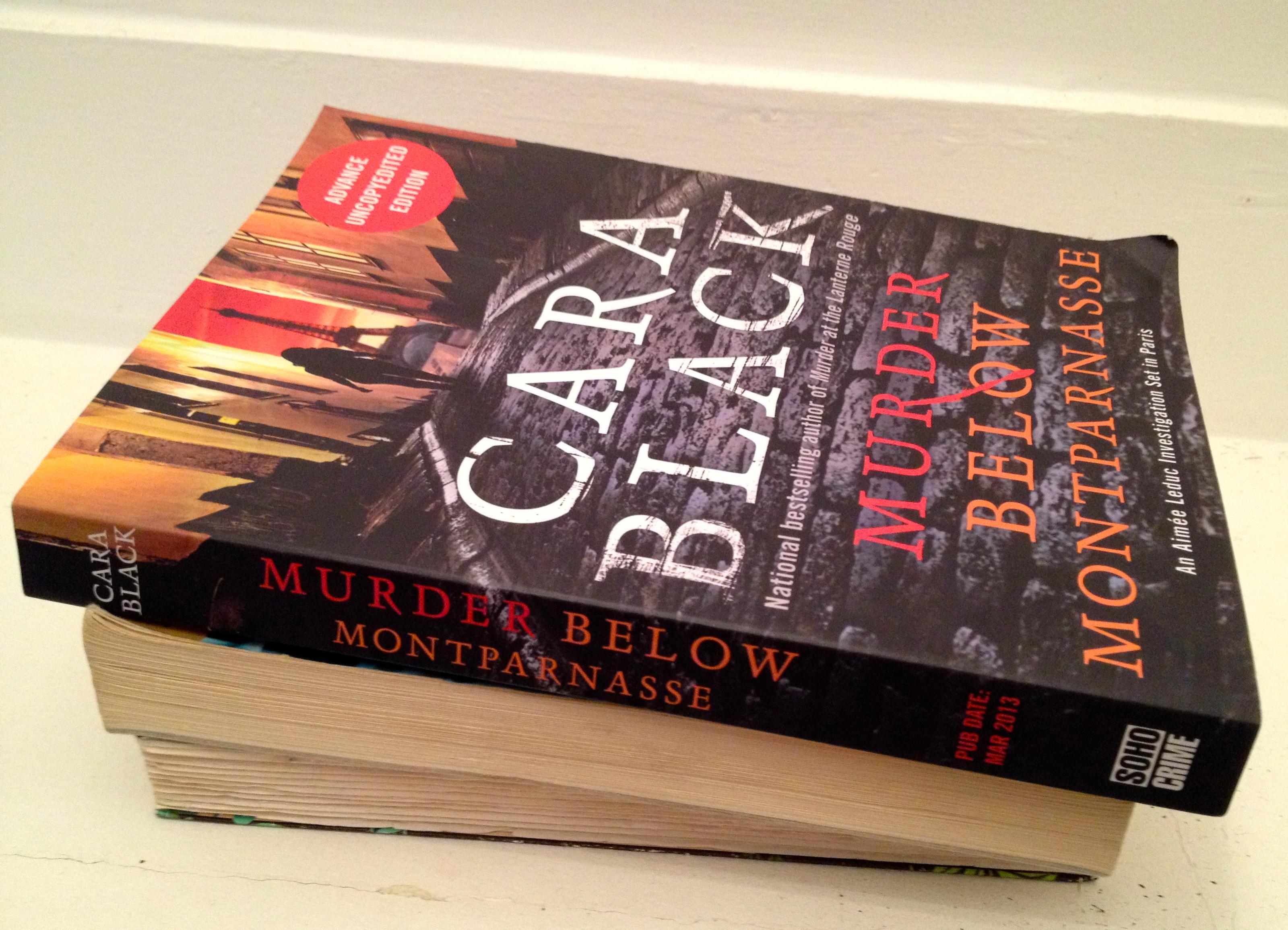 Murder below Montparnasse 13 by Cara Black (2013, Hardcover) Signed
