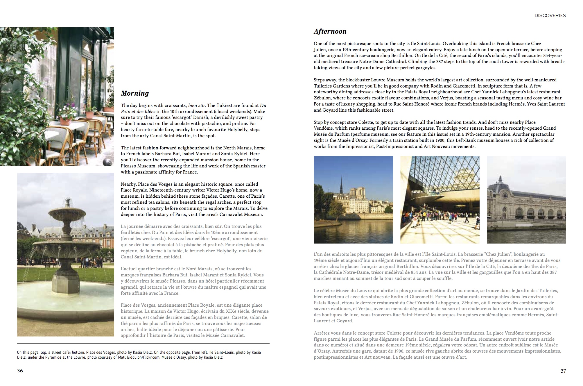 Maison Du Nord Magazine writing - love in the city of lights